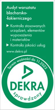 Certyfikat audyt - Dekra 2022
