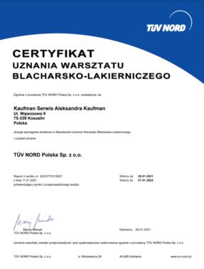 TUW_NORD_Certyfikat